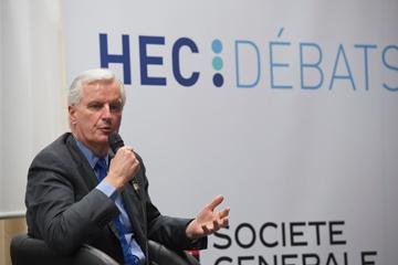 HEC Paris - News - EU Commissioner Michel Barnier debates future of Europe with HEC students