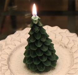 Special Yule Tree beeswax candle for your holidays!