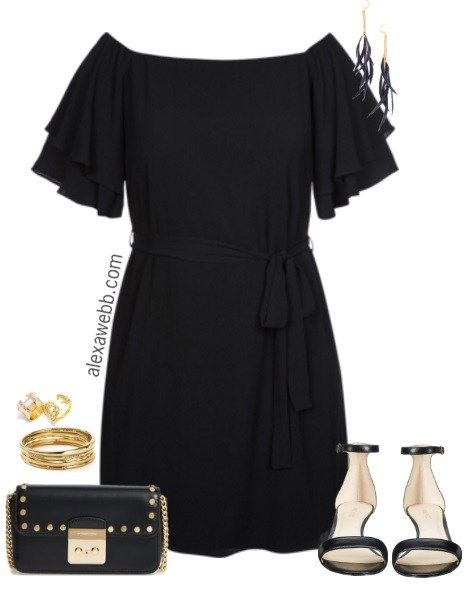 Plus Size Little Black Dress - Plus Size Summer Dress - Plus Size Fashion for Women - alexawebb.com #alexawebb