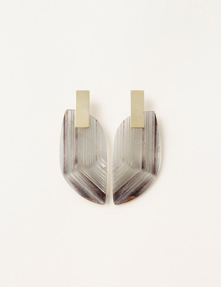Quartz Slice Earrings | Kathleen Whitaker