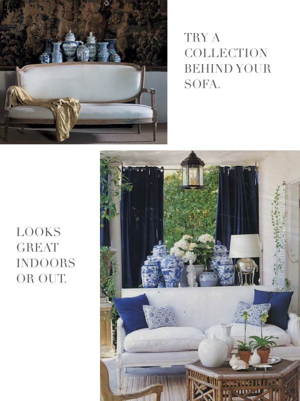 living room in blue%0A chinese blue and white porcelain  large vases and ginger jars   Google  Search
