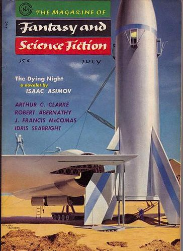 Magazine of Fantasy and Science Fiction (July 1956), cover by Chesley Bonestell