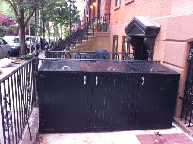 Brick Trash Can Storage Outdoor