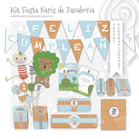 Kit Fiesta Niño Nariz de por CelebracionesCaseras en Etsy, €14.95