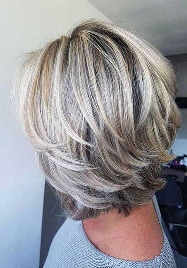 22++ Coiffure mi longue cheveux gris des idees