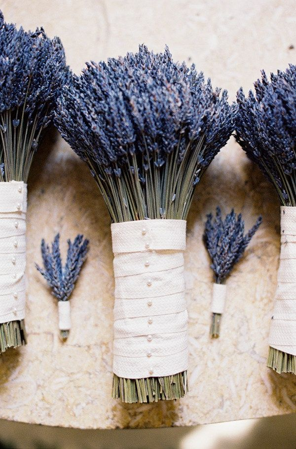 Ana Rosa. Lavender bunches beautifully bound and pinned.