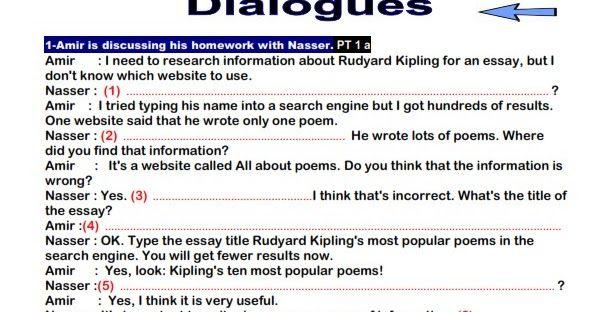 حمل 44 محادثة لغة انجليزية للصف الثالث الثانوى بالاجابات محادثات متوقعة للثانوية العامة يعتبر سؤال المحادثة من أصعب الاسئ Informative Essay First Website