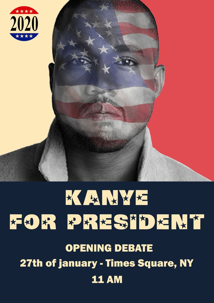Kanye for president, opening debate, for all american citizens - Guus Liebrand