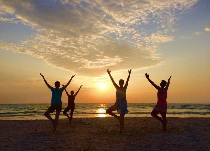Sunset Yoga on White Island Sand bar, Camiguin island, Philippines. Join us soon!