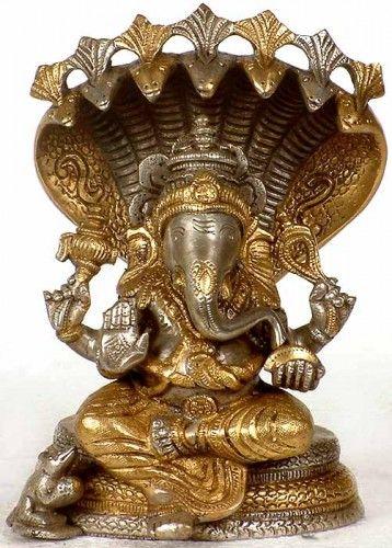 Ganesha Seated on Sheshnaga