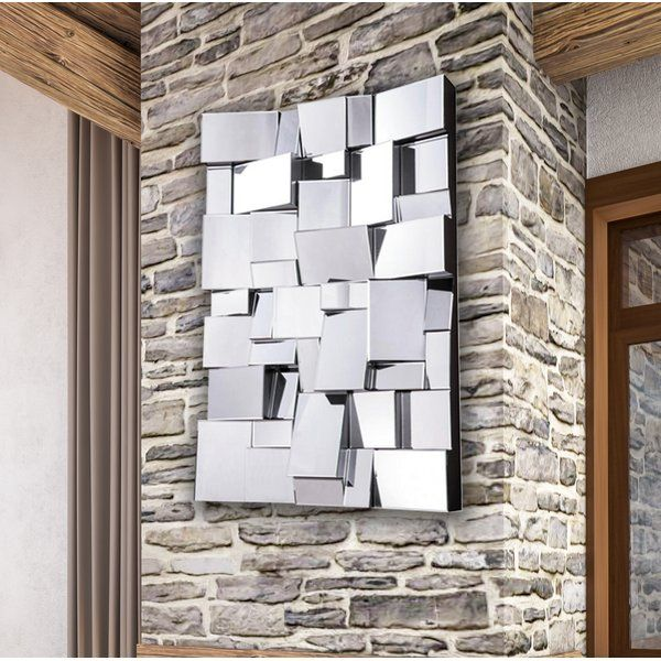 Pennsburg Rectangle Modern And Contemporary Beveled Accent Wall Mirror In 2020 Big Wall Mirrors Mirror Wall Mirror Wall Bedroom #rectangular #wall #mirror #for #living #room