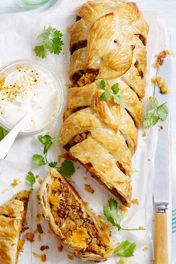 Whether you're serving it up as a starter or side, this Moroccan pastry will go down a treat! Packed with lamb and pumpkin and served up with yoghurt, our puff pastry plait will become a family favourite.