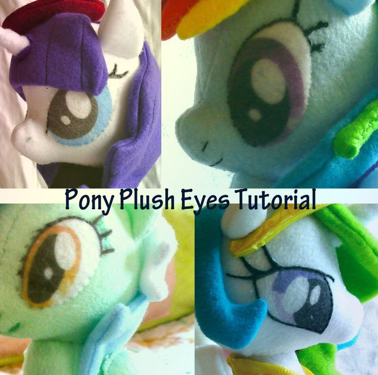 Page one of the simple, beginner's pattern to make a My Little Pony plushie. Page two: Tutorial:
