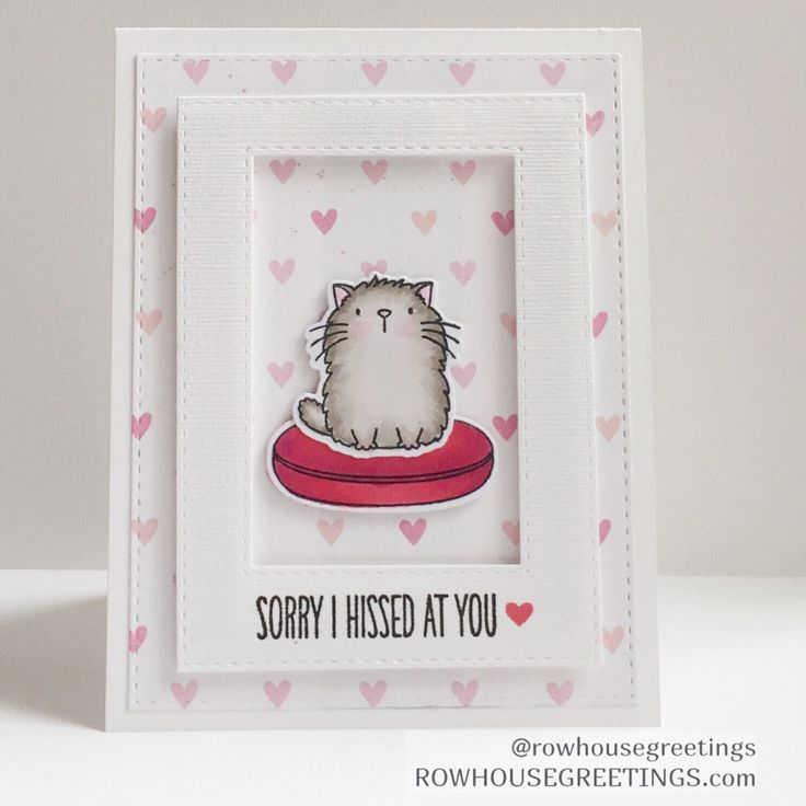 Rowhouse Greetings - I'm Sorry Card - My Favorite Things - Cool Cat Stamp set and dies