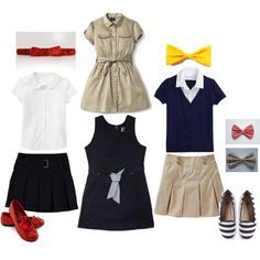 """It's all in the accessories!"" by lacey-carter-adkins on Polyvore School uniform ideas"