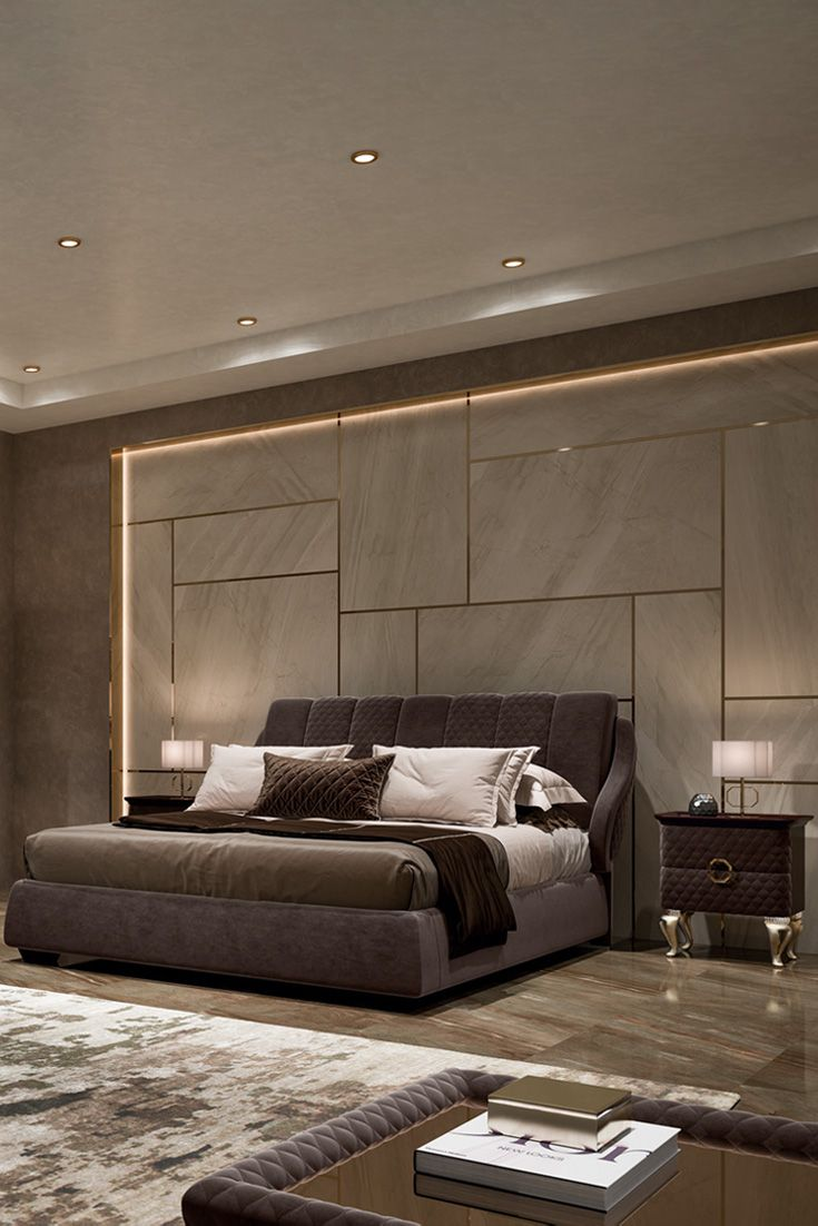 Luxurious Italian Faux Nubuck Leather Designer Bed Juliettes Interiors Luxury Bedroom Master Luxury Master Bedroom Design Bedroom Design Modern italian bedroombedroom furniture