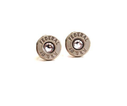 Silver Bullet Birthstone Stud Earrings