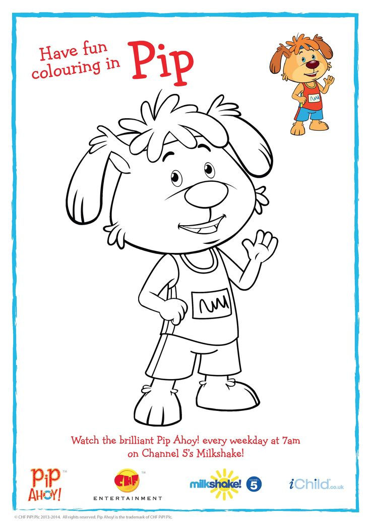 Pip Colouring In activity sheet to celebrate the Commonwealth Games #Glasgow2014! More #PipAhoyUK activities available on ichild.co.uk