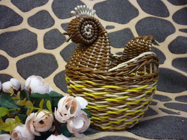 курочка пасхальная .плетение из бумажных трубочек