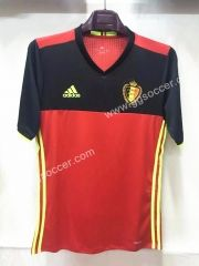 2016 European Cup Belgium Home Red Thailand Soccer Jersey Player Version