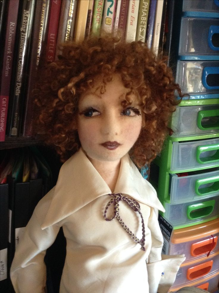 Felt doll in the process of being made. Created by Vicki Leeke