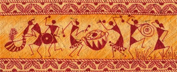 Title: Dancing Warlis  Medium: Color Markers On Special Handmade Paper  http://fineartamerica.com/featured/dancing-warlis-subhash-limaye.html
