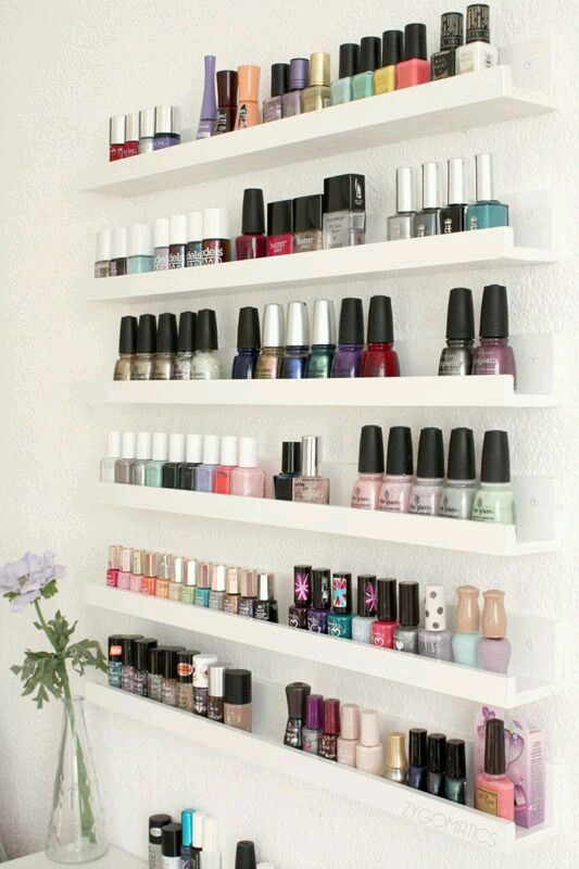 Great way of displaying the nail colours