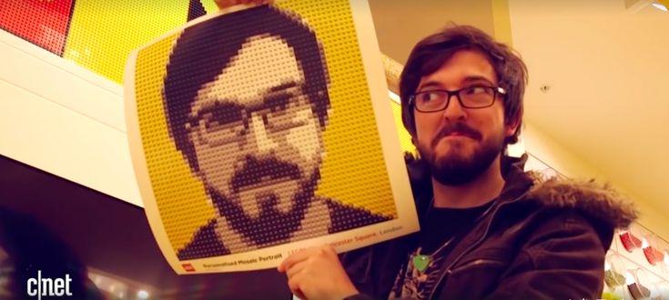 Cette cabine photo reproduit votre portrait avec des briques LEGO