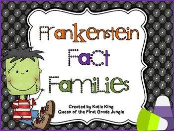 Frankenstein Fact Families #firstgrademath #factfamilies #freemathdownload