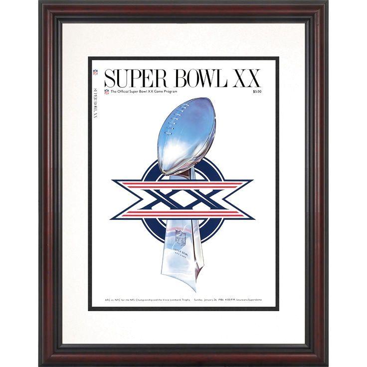 "Fanatics Authentic 1986 Bears vs. Patriots Framed 8.5"" x 11"" Super Bowl XX Program - $47.99"