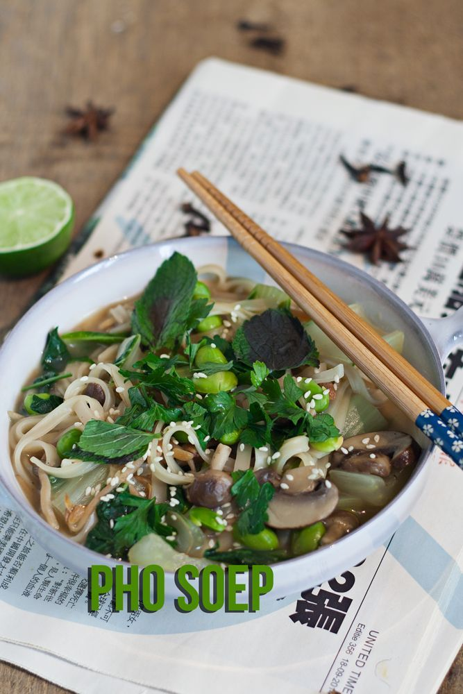 Pho soep is een heerlijk vulllende maaltijdsoep uit vietnam.