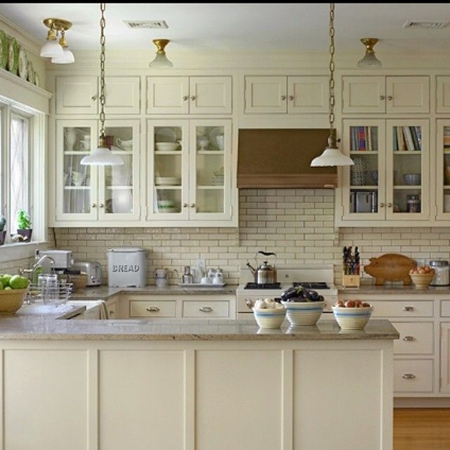 Morning! It's Krista (@clothandkind) & Tami (@tamiramsay) on hump day of our #KBISTakeover week. We are having a blast being in the driver's seat of @kbis2015's Instagram feed! We wanted to share the lovely kitchen of Lynn Byrne of @decorartsnow with you this morning. Lynn took extra care to rebuild this kitchen in its circa 1900 Victorian style after the original was destroyed in a fire. Kudos on a stunning rehab, Lynn! What's your favorite part of your kitchen?…