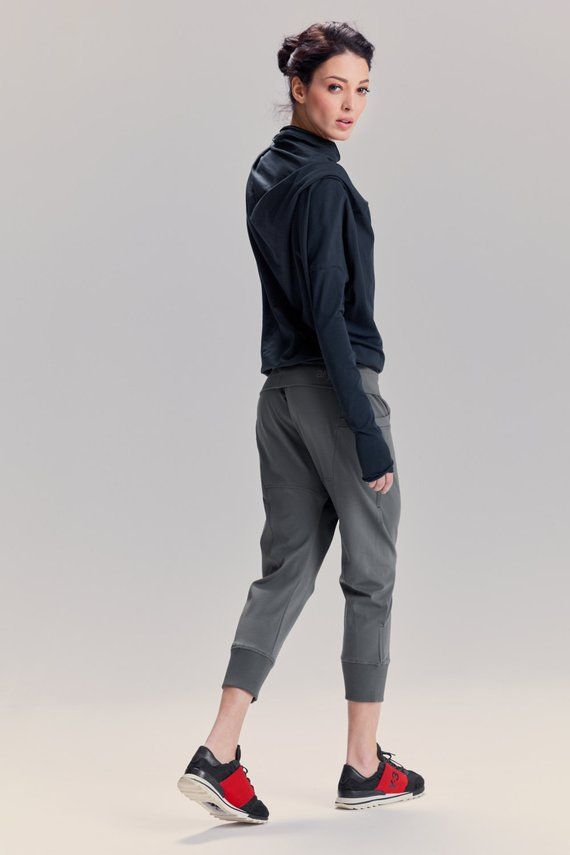 596bea8207 Arya Yoga Pants/ Military Green Drop Crotch Pants/ Yoga Clothes/ Cropped Yoga  Bottoms/ Women's Loose Yoga Pants by AryaSense/ PDCS16MGN | Style | Dress  with ...