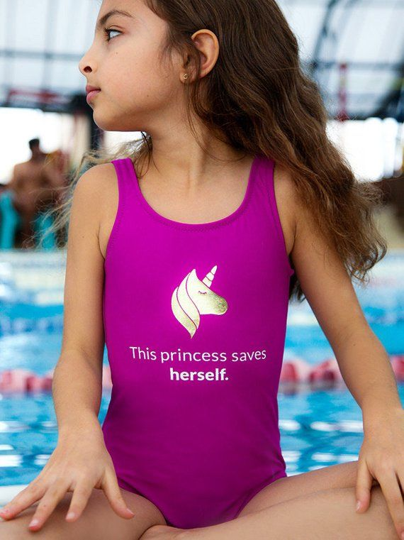 UK Kid Girl Princess Swimsuit One Piece Bikini Bahitng Swimwear Swimming Costume