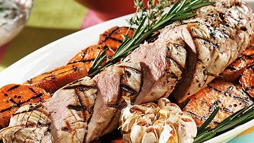 Filets de porc à l'ail et au romarin