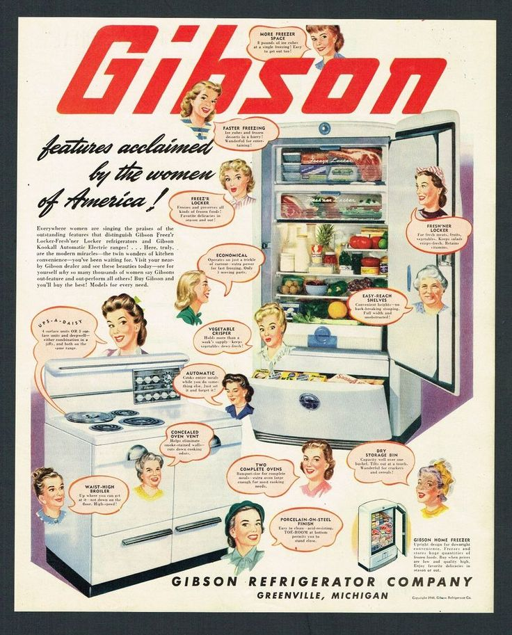 1948 Magazine Ad #22 Gibson Refrigerator Co. Greenville Michigan Housewives  Talk