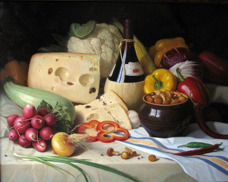 Валерий Федотов Овощи, сыр и вино