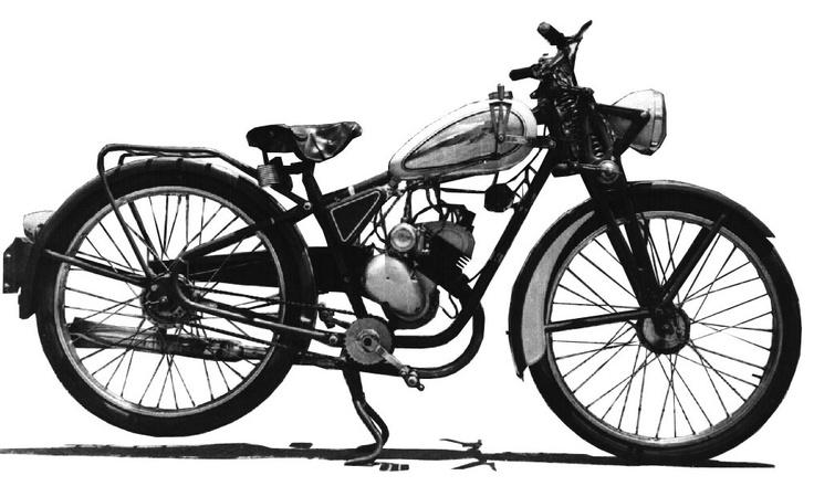 Moto Puma. Primera serie 98cc (1952/1956)