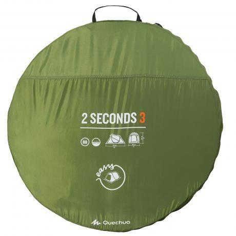 Location Tente Quechua 3 places à Saint-Loup-d'Ordon (89330). Complétement neuf servis qu'une fois. On peut tenir à 5.Verte.2 seconds 3