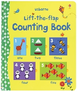 FINE MOTOR-With lots of flaps to lift, this charming book lets young children have fun matching numbers and pictures. It's the ideal way to provide practice in counting and number recognition, and there's plenty for pre-readers to find, name and talk about. Usborne Books & More. Lift-the-Flap Counting Book $11.99