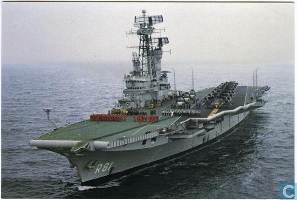 Postcards - Naval aviation in the Netherlands - Hr.Ms. vliegdekschip Karel Doorman R81
