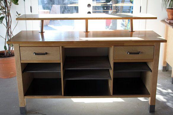 Schreibtisch Ikea Jonas Maße ~ Kitchen work tables, Ikea and Cabinets on Pinterest