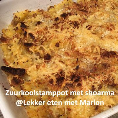 Lekker eten met Marlon: Zuurkoolstamppot met shoarmavlees