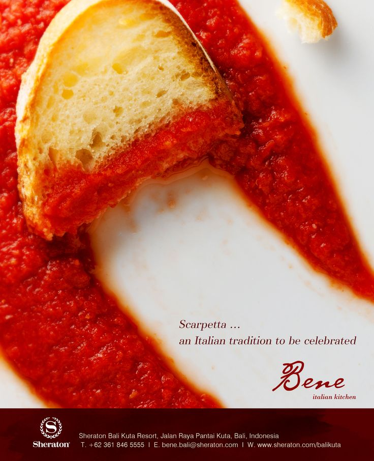 "Whatever your choice is at Bene, be sure to ask about our little Italian tradition - ""Scarpetta"". http://www.sheratonbalikuta.com/en/bene"