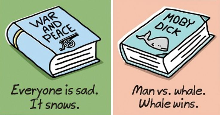 Extremely Shortened Versions of Classic Books For Lazy People | Bored Panda