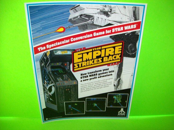 Atari STAR WARS The EMPIRE STRIKES BACK Original 1984 NOS Video Arcade Flyer #Atari