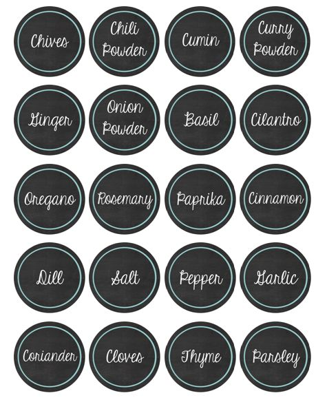 Free printable spice jar labels by riss home design