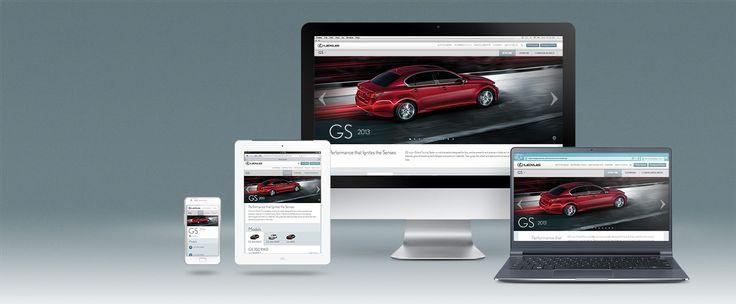 Lexus Canada's sweet responsive site