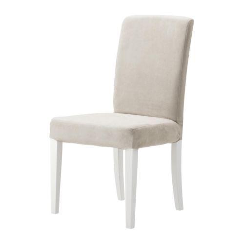 HENRIKSDAL Stol IKEA Du sitter bekvämt tack vare den höga ryggen och sitsen av polyestervadd.