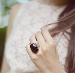 Vintage Ring -just black II-